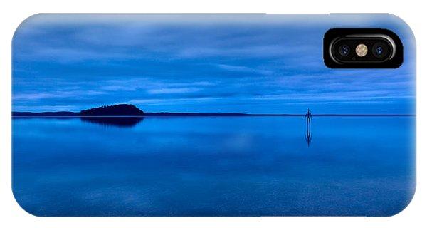 IPhone Case featuring the photograph Nightfall Over Lake Ballard by Julian Cook