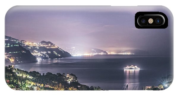 Cruise Ship iPhone Case - Nights In The Harbor by Evelina Kremsdorf