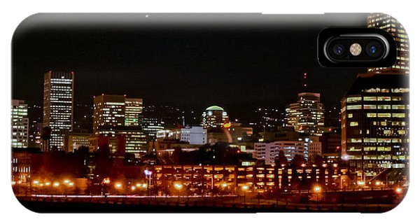 Nighttime In Pdx IPhone Case