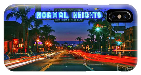 Nighttime Neon In Normal Heights, San Diego, California IPhone Case