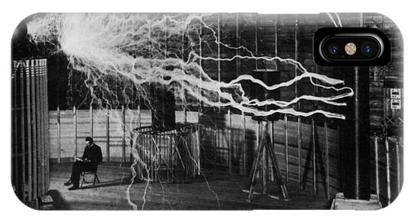 Nikola Tesla - Bolts Of Electricity IPhone Case