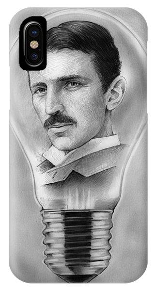 Inventor iPhone Case - Nikola Tesla by Greg Joens