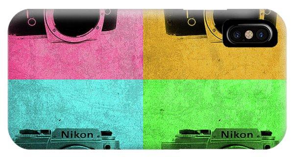 Nikon iPhone Case - Nikon Camera Vintage Pop Art by Design Turnpike