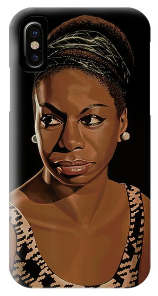 Rights iPhone Case - Nina Simone Painting 2 by Paul Meijering
