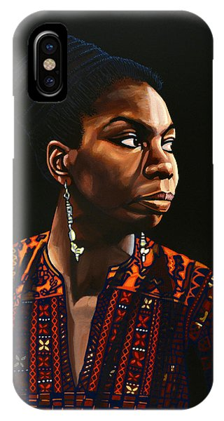 Rhythm And Blues iPhone Case - Nina Simone Painting by Paul Meijering
