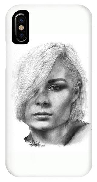 iPhone Case - Nina Nesbitt Drawing By Sofia Furniel by Jul V