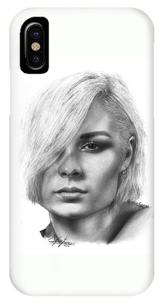 iPhone Case - Nina Nesbitt Drawing By Sofia Furniel by Jul V