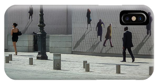 Nine Pedestrians At Place Vendome IPhone Case