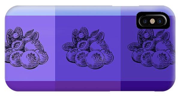 Lid iPhone Case - Nine Shades Of Blueberries by Irina Sztukowski