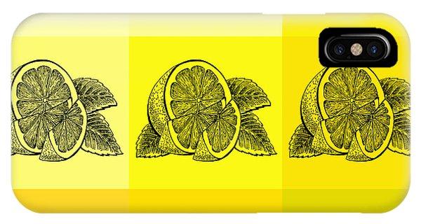Lid iPhone Case - Nine Shades Of Lemon by Irina Sztukowski