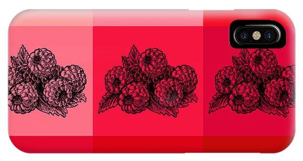 Lid iPhone Case - Nine Shades Of Raspberries by Irina Sztukowski