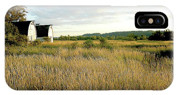 Nisqually Two Barns IPhone Case