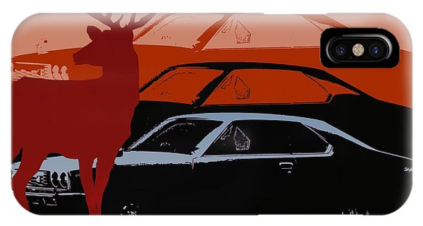 Nissan 210 With Deer 3 IPhone Case