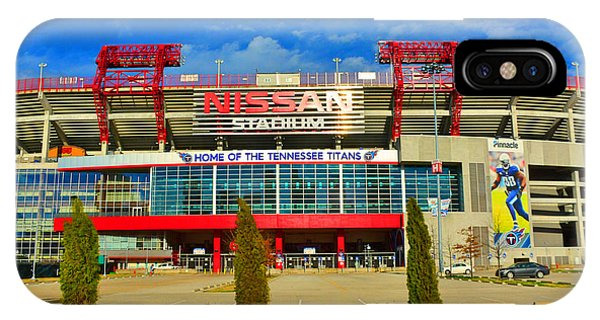 IPhone Case featuring the photograph Nissan Stadium Home Of The Tennessee Titans by Lisa Wooten