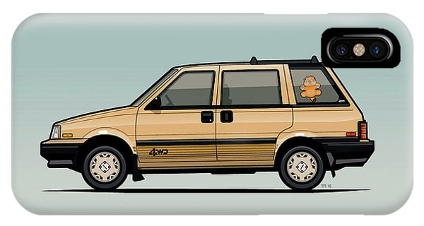 Nissan iPhone Case - Nissan Stanza / Prairie 4wd Wagon Gold by Monkey Crisis On Mars