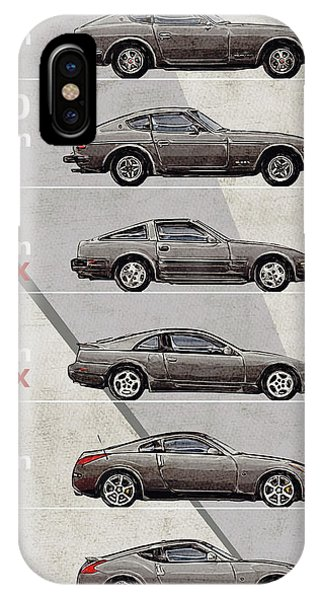 Nissan iPhone Case - Nissan Z Generations - History - Timeline  by Yurdaer Bes