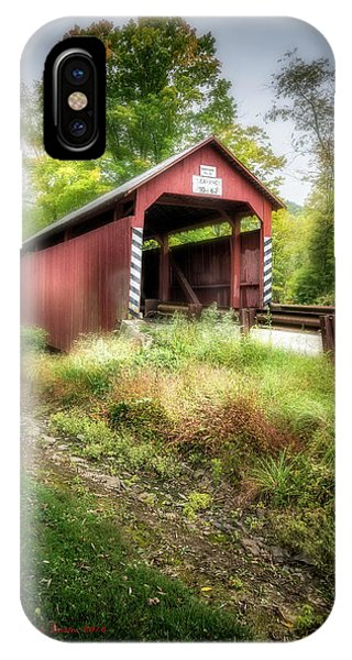 Covered Bridge iPhone Case - No 28 Johnson by Marvin Spates