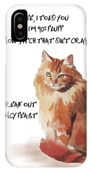 No Fat Cat IPhone Case
