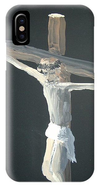 Old Rugged Cross iPhone Case - No Greater Love by Norm Starks