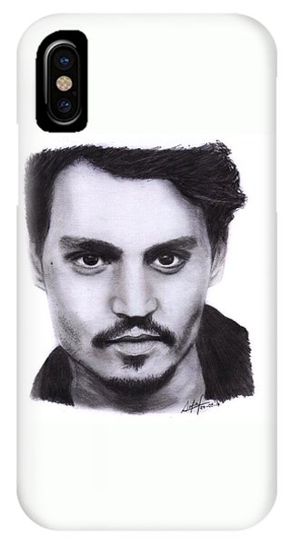 iPhone Case - Johnny Depp Drawing By Sofia Furniel by Jul V