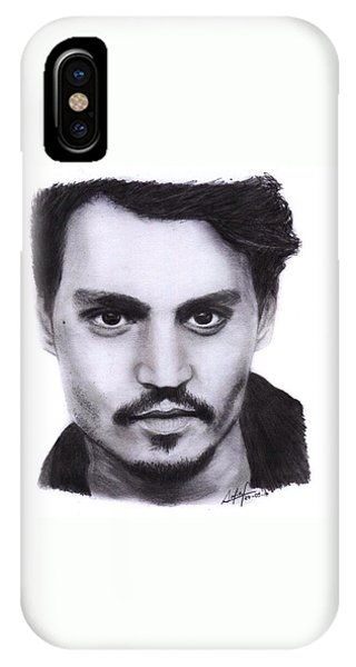 iPhone Case - Johnny Depp Drawing By Sofia Furniel by Jul V