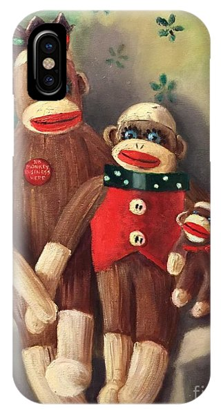 No Monkey Business Here 2 IPhone Case