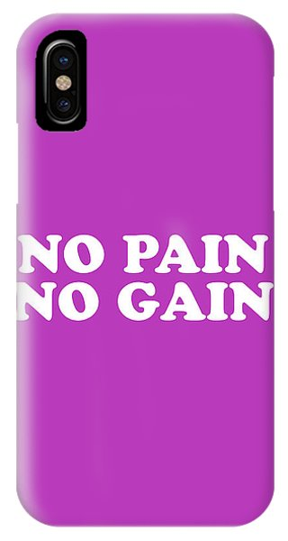 Simple iPhone Case - No Pain No Gain Simply Inspired Series 018 by Design Turnpike