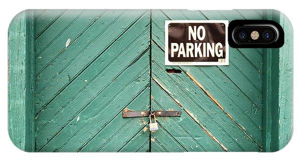 No Parking Warehouse Door IPhone Case