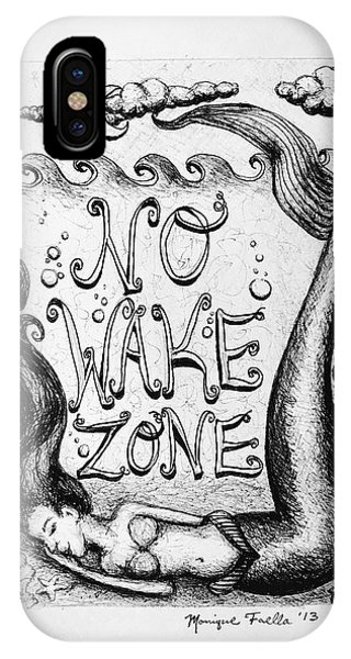 No Wake Zone, Mermaid IPhone Case