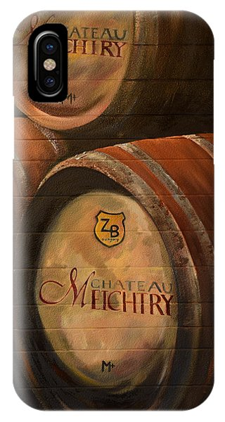 No Wine Before It's Time - Barrels-chateau Meichtry IPhone Case