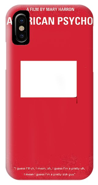 American iPhone Case - No005 My American Psyhco Minimal Movie Poster by Chungkong Art
