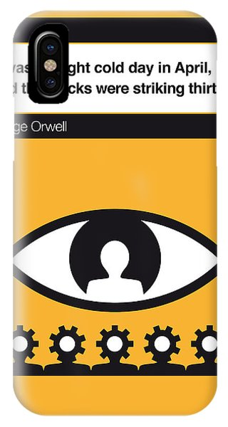 George iPhone Case - No008 My 1984 Book Icon Poster by Chungkong Art