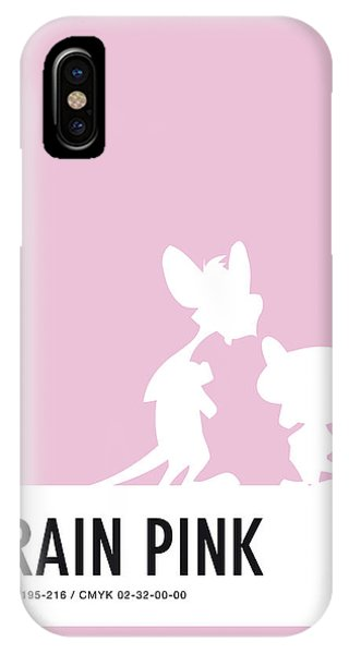 No01 My Minimal Color Code Poster Pinky And The Brain IPhone Case