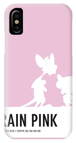 Duck iPhone Case - No01 My Minimal Color Code Poster Pinky And The Brain by Chungkong Art