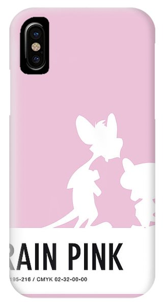 Brain iPhone Case - No01 My Minimal Color Code Poster Pinky And The Brain by Chungkong Art