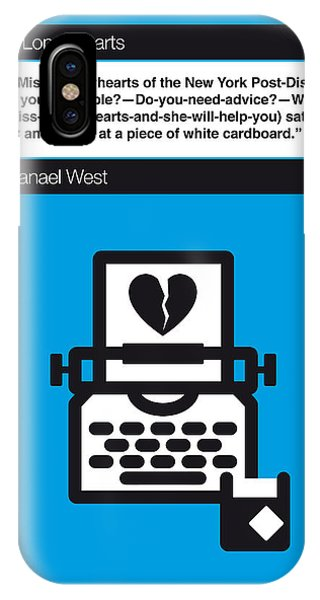 Opening iPhone Case - No011-my-miss Lonelyhearts-book-icon-poster by Chungkong Art