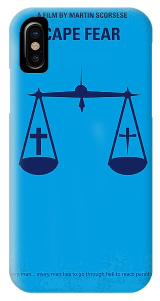 Robert De Niro iPhone Case - No014 My Cape Fear Minimal Movie Poster by Chungkong Art