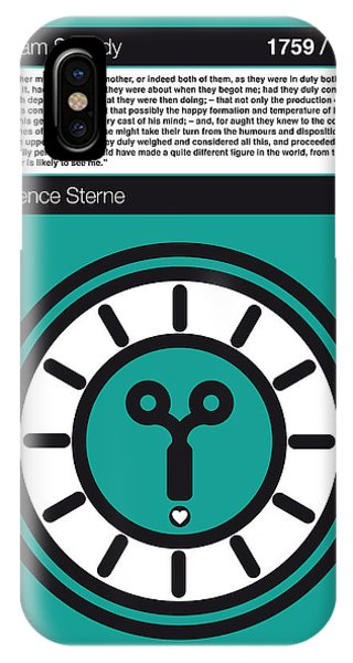 Opening iPhone Case - No019-my-tristram Shandy -book-icon-poster by Chungkong Art