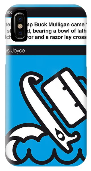 Opening iPhone Case - No021-my-ulysses-book-icon-poster by Chungkong Art