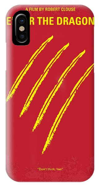 Dragon iPhone X Case - No026 My Enter The Dragon Minimal Movie Poster by Chungkong Art