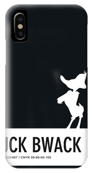 No03 My Minimal Color Code Poster Daffy Duck IPhone Case