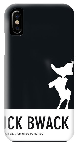 Duck iPhone Case - No03 My Minimal Color Code Poster Daffy Duck by Chungkong Art