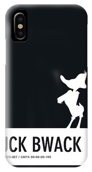 Brain iPhone Case - No03 My Minimal Color Code Poster Daffy Duck by Chungkong Art