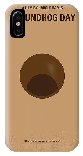 Groundhog iPhone Case - No031 My Groundhog Minimal Movie Poster by Chungkong Art