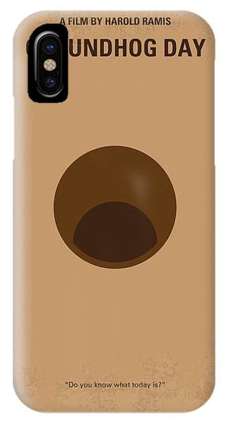 Again iPhone Case - No031 My Groundhog Minimal Movie Poster by Chungkong Art