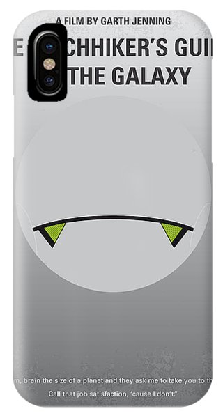 Thought iPhone Case - No035 My Hitchhiker Guide Minimal Movie Poster by Chungkong Art