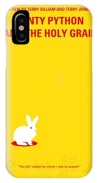 Knight iPhone Case - No036 My Monty Python And The Holy Grail Minimal Movie Poster by Chungkong Art
