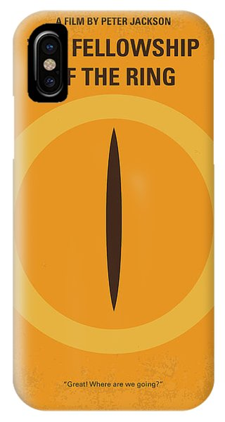 Middle iPhone Case - No039-1 My Lotr 1 Minimal Movie Poster by Chungkong Art