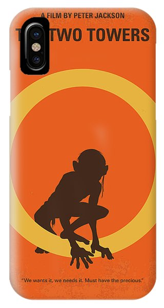 Middle iPhone Case - No039-2 My Lotr 2 Minimal Movie Poster by Chungkong Art