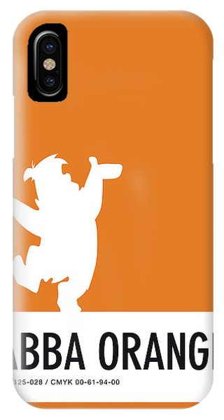 No04 My Minimal Color Code Poster Fred Flintstone IPhone Case